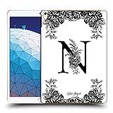 Head Case Designs Officiel Nature Magick Lettre N Monogramme Floral B&W 2 Coque Dure pour l'arrière...