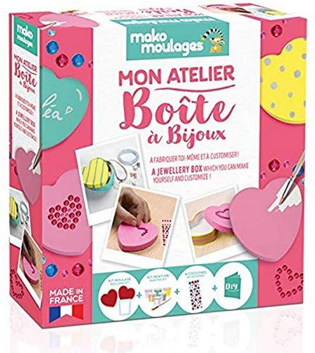 mako moulages Mon Atelier... Boite à Bijoux - Coffret Loisirs créatifs