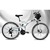 GOHHK 48V elektrisches Mountainbike für Erwachsene Kinder, 26 Zoll faltbares E-Bike mit 4,0 'Fat Tyres Speichenrädern Premium Full Suspension Travel Outdoor Bike