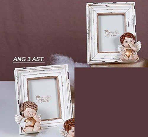 2 PEZZI Cornice Portafoto piccolo in Resina Angelo bambino 13x10 cm