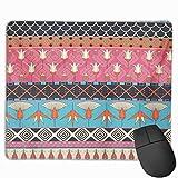 Niedliche Gaming-Mauspad, Schreibtisch-Mauspad, kleines Mauspad für Laptop-Computer, Mausmatte Antike ägyptische Stammesjacken Flyer Taschen Umschläge Pads Decken Möbel
