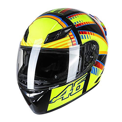 GoolRC Casco de Motocicleta Casco Integral Rapid Street Unisex Adulto Equipo Cool...