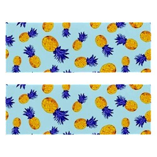 Toallas de gimnasio tropicales de la selva tropical con impresión de piña de secado rápido de microfibra deportiva para hombres y mujeres, paquete de 2