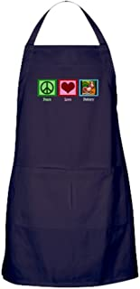 CafePress Peace Love Pottery Kitchen Apron with Pockets, Grilling Apron, Baking Apron