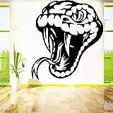 yaonuli Sala de Estar Dormitorio decoración del hogar Serpiente Vinilo removible Tatuajes de Pared Reptil Tatuajes de Pared 30x33cm