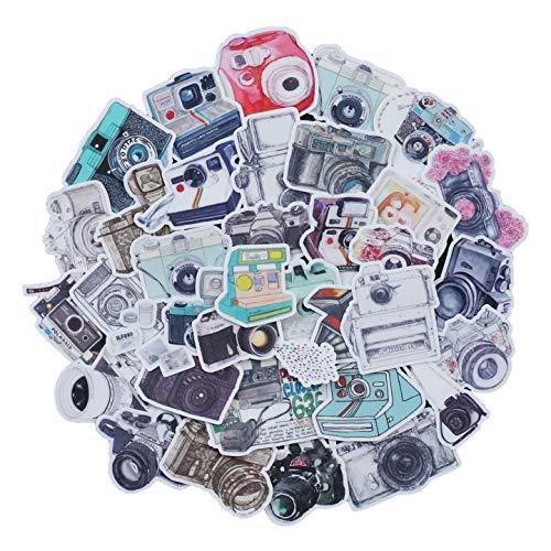 Navy Peony Kamera Aufkleber Pack und Reiseaufkleber | wasserfeste Aufkleber für einen Vintage Koffer | Aufkleber für Telefon sowie Laptop Sticker | Coole Sticker für Einklebebuch und Notizbuch