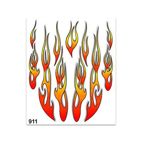 4R Quattroerre.it 911 Aufkleber Flammen, 20 x 24 cm, Mehrfarbig, Taglia Unica
