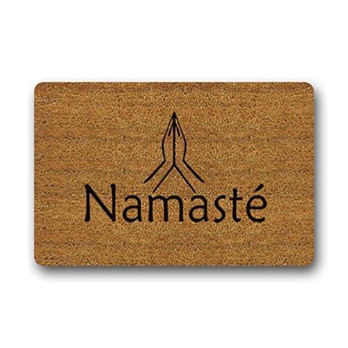 eureya entrada Felpudo Namaste baño salón cocina área alfombra alfombra felpudos dentro/fuera de casa Decor 23.6(L) x15.7(W) -perfet regalo