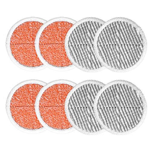 KEEPOW Mop Cleaning Pads Ersatz für Bissell Spinwave 20522 2039A 2124 (4 Orange + 4 Grau)