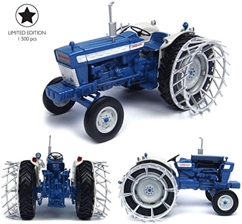 TRATTORE FORD 5000 WITH METAL ruedaS 1 32 Universal Hobbies Mezzi Agricoli e Accessori modellololo modellololino die cast