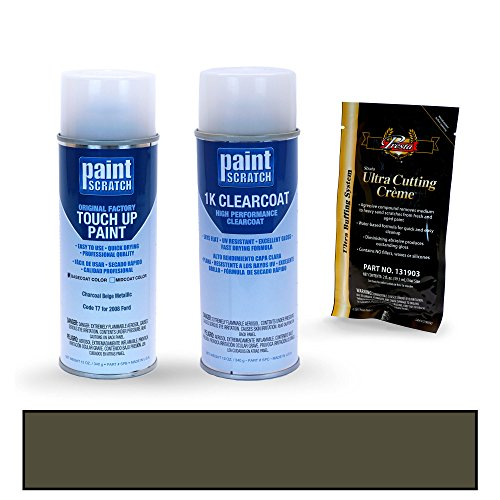 PAINTSCRATCH Touch Up Paint Spray Can Car Scratch Repair Kit - Compatible with 2008 Ford F-Series Charcoal Beige Metallic (Color Code: T7)