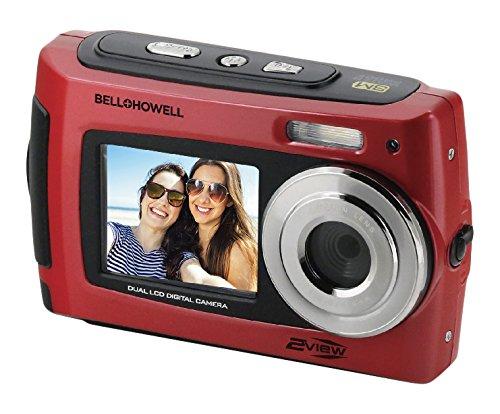 "Bell+Howell 2VIEW 18.0MP HD Dual Screen Underwater Digital & Video Camera (Waterproof to 10 ft.), 2.7"", Red (2VIEW18-R)"