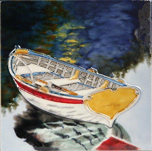 YH-Arts Rowing Boat Barca a Remi 8x8, Multicolore, 20x20x0.9 cm