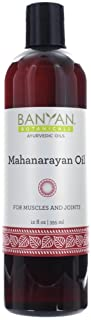 Banyan Botanicals Mahanarayan Oil � 99% Organic Ayurvedic Massage Oil � Soothes Sore Muscles, Supports Healthy and Comfortable Joints, Tendons & Muscles � 12oz. � Non GMO Sustainably Sourced Vegan