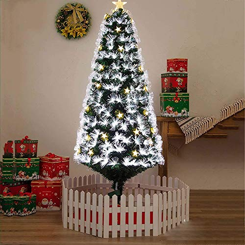 WQSFD Christmas Tree Deluxe Xmas Tree Fiber Optic Color Changing Multi Colour Led Lights with 10 Lighting Modes and Star Free Standing Indoor/Outdoor Tree Lights Xmas Gift,1.5 Meters