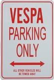 VESPA Solo parcheggio - parcheggio segni in miniatura regalo ideale per gli appassionati di automobilismo