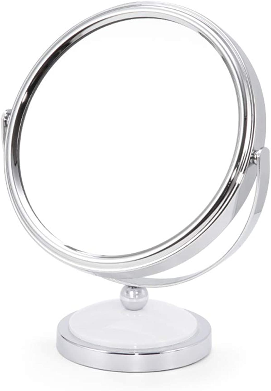 BLWX - European Makeup Mirror - HD Double-Sided Dressing Mirror Desktop Mirror Mirror (color   White, Size   8.5X15X19.5)