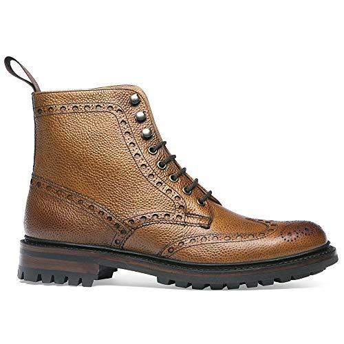 Joseph Cheaney & Sons Tweed C Wingcap Brogue Land Boot in Mandel-Grain-Leder UK 10 F/EU 44 F