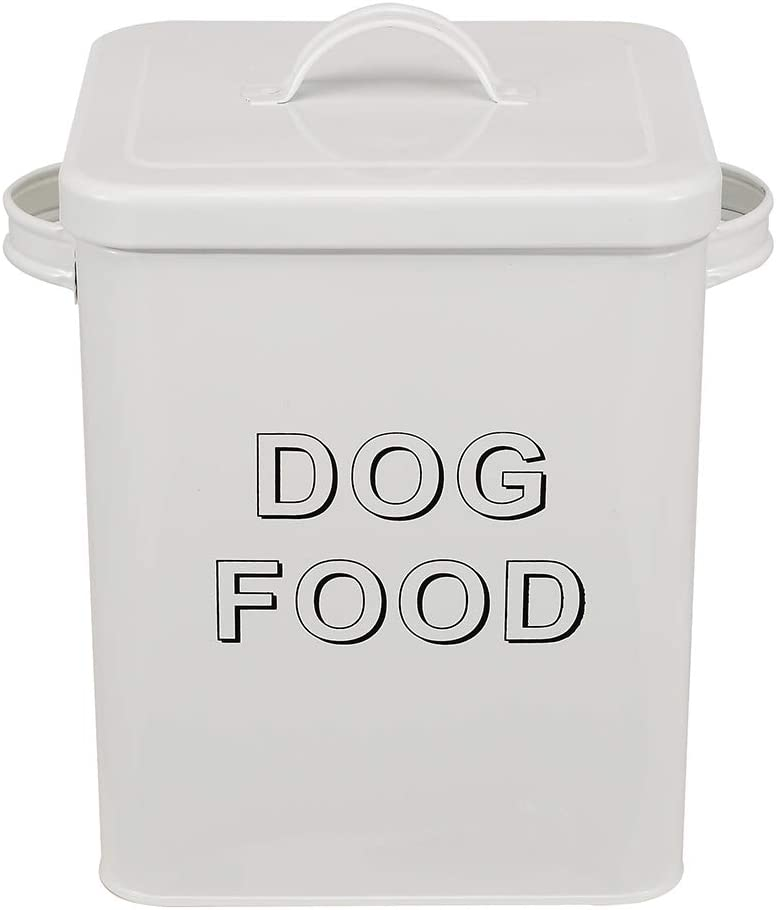 Morezi Dog Treat and Food Over item handling ☆ Storage Serving Very popular with Lid Scoop Tin