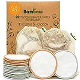 Bambaw Discos Desmaquillantes Reutilizables con dos bolsitas de algodón...
