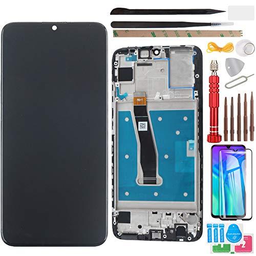 """YHX-OU 6.21"""" per Huawei P Smart 2019 Pot-LX3 Pot-LX1 POT-AL00 Enjoy 9s di Riparazione e Sostituzione LCD Display Touch Screen Digitizer+ con Utensili Inclusi e 1 Pezzo Vetro temperato (Nero+Telaio)"""