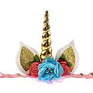 DDazzling Unicorn Headband Unicorn Birthday Rose Flower Headband Unicorn Party Unicorn Photo Props