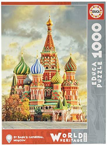 Educa - Catedral de San Basilio, Moscú Puzzle, 1000 Piezas, Multicolor (17998)