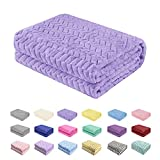 Baby Blanket Flannel, Cozy Throw Blankets for Newborn Infant and Toddler, Super Soft and Warm Receiving Baby Blanket for Crib Stroller (Purple 3040')