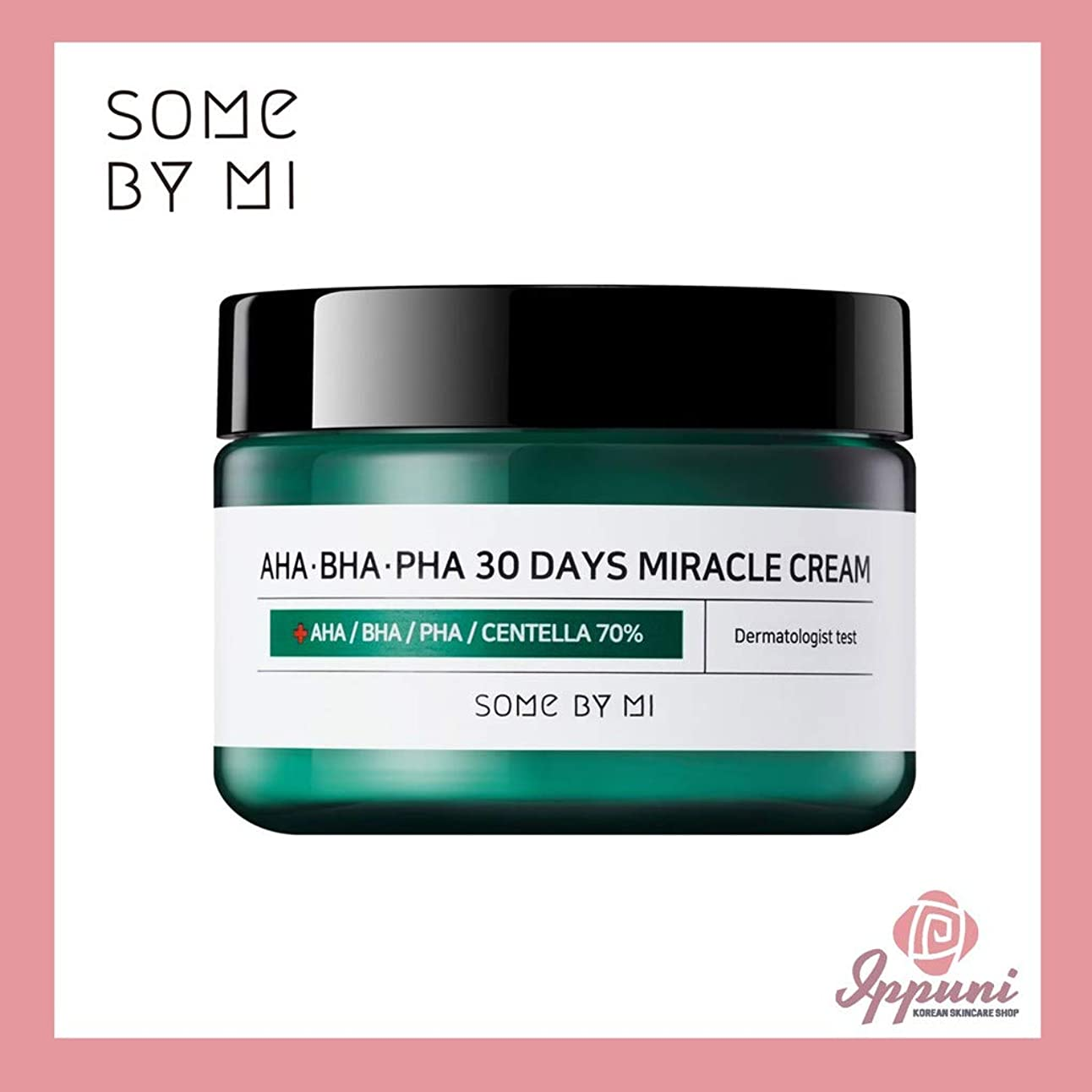 に賛成ニックネーム永遠のSomebymi AHA BHA PHA Miracle Cream 50ml (1.7oz) Skin Barrier & Recovery, Soothing with Tea Tree 10,000ppm for Wrinkle & Whitening/Korea Cosmetic [並行輸入品]