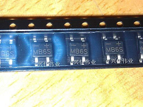 20 teile/los MB6S SOP4 IC RECT BRÜCKE 0,5A 600 V MBS-1 LED Gleichrichter
