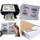 MFLABEL 4000 Half Sheet Laser/Ink Jet Shipping Labels for UPS USPS FedEx