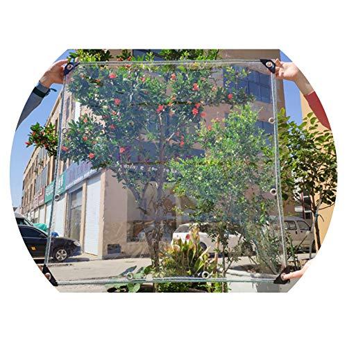 ALGFree Impermeable Lona de Protección Transparente Espesar Paño de Lluvia Balcón Impermeable a Prueba de Viento Lona Cobertizo de Tela, Espesor 0,5 MM,Personalizable (Color : Clear, Size : 1.5x3m)