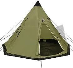 Camping vandring 4-personers tält grönt