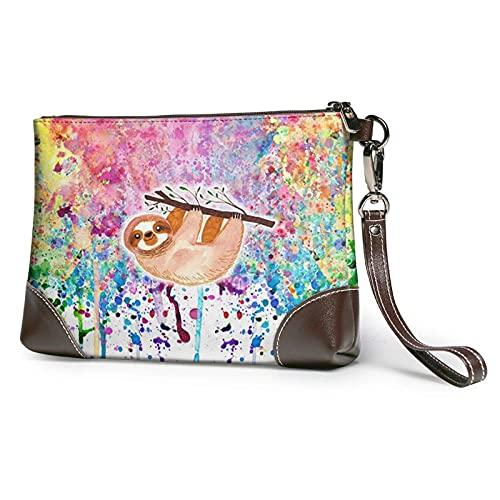 XCNGG Clutch Handtasche Leder Slo-Th Rain-Bow Umschlagtasche Brieftasche und Tragetasche Make-up-Tasche Damen Mädchen