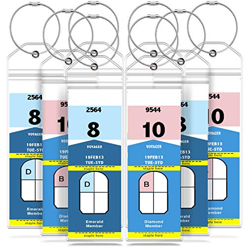 GreatShield Luggage Tags, Weatherproof Zip Seal and Steel Loops for Royal Caribbean and Celebrity Cruise (8 Pack)