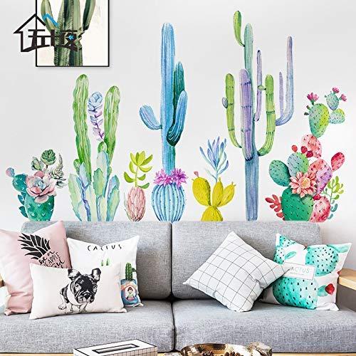 Pegatinas de pared Cactus Stickers Slaapzaal de Estar decoraci n de la pared Creatieve planta c LIDA pegatinas de pared peque of Papel Pintado Vers 125 * 70 cm Cactus Cactus Large