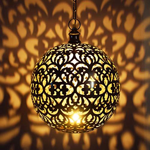 Oosterse lamp hanglamp zilver Arpana 40 cm E27 fitting | Marokkaans design hanglamp lamp lamp uit India | Orient lampen voor woonkamer, keuken of hangend boven de eettafel