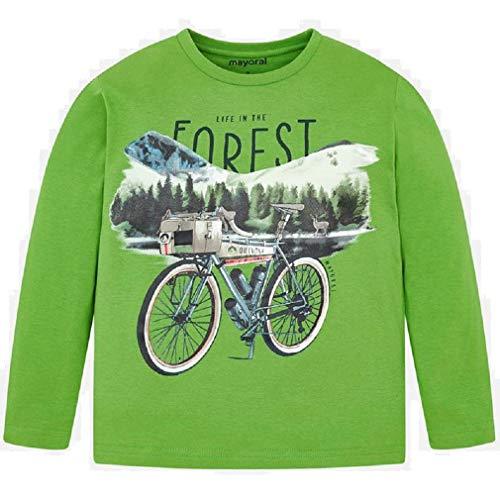 Mayoral Maglietta a maniche lunghe per bicicletta, da bambino, modello 4032 Verde 2 anni