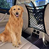 FCILY 3 Layer Car Dog Barrier, Dog Net for Car Between Seats, Back Seat Net Organizer, Pet Barrier Backseat Mesh Net for Cars, SUVs, Trucks, Drive Safely with Children & Pets