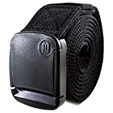 BETTA 1.5 Inch Wide Men's Elastic Stretch Belt with Fully Adjustable High-Strength Buckle (X-Large, Black)