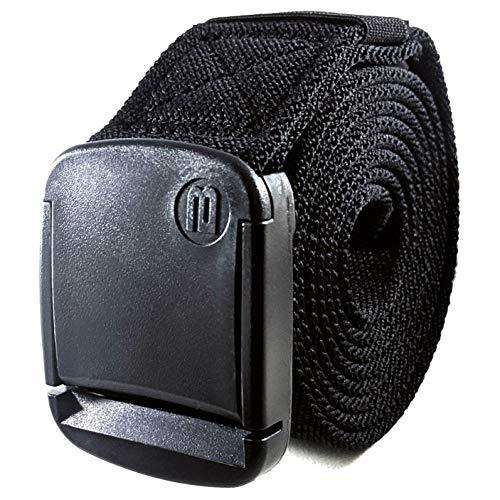 BETTA 3,8cm breiter elastischer Stretch-Gürtel für Herren mit ultra-starker, verstellbarer Schnalle