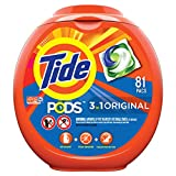 Tide PODS 3 in 1 HE Turbo Laundry Detergent Pacs, Original Scent, 81 Count Tub,...