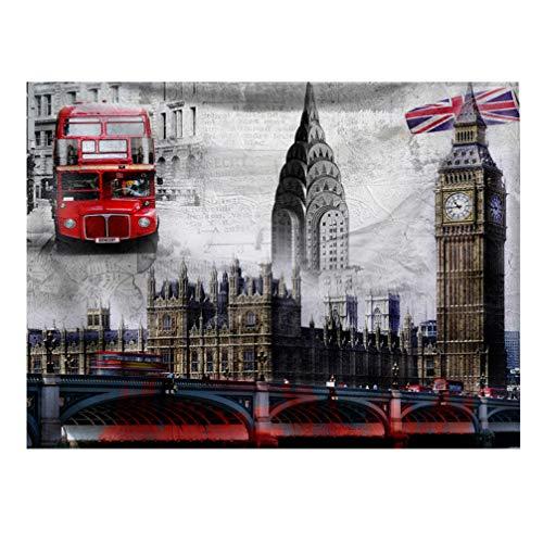 Doitool Tapiz de Pared Vintage Retro Inglaterra Colgante de Pared Grandes Tapices Decoraciones Dormitorio Sala de Estar Dormitorio 200X150cm (Rojo)