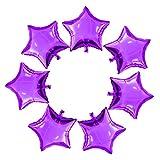 Gxhong 25 Piezas globos estrella Púrpura, 18'' Globos de papel de aluminio de globos de helio de románticos globos para cumpleaños, bodas, día de San Valentín, decoración de fiesta de Navidad