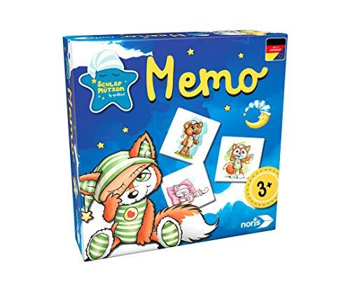 Noris 606011728 Schlafmützen Memo, klassisches Memory, für Kinder ab 3 Jahren