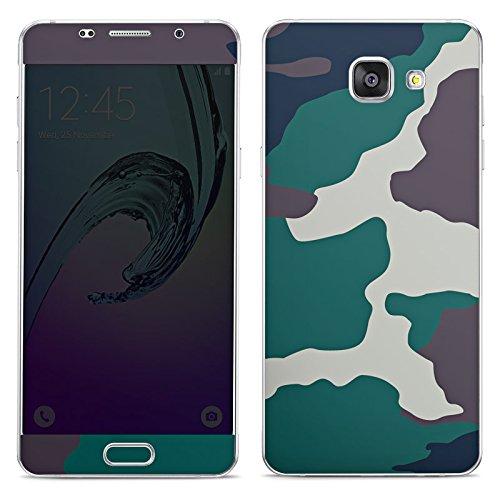 DeinDesign Samsung Galaxy A5 (2016) Folie Skin Sticker aus Vinyl-Folie Aufkleber Camouflage Bundeswehr Tarn Muster