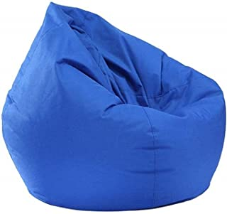 Inwinner Waterproof Removable Slip Bean Bag Chair Large Storage Bean Bag Lounger Sack Oxford Chair Cover for Kids,Teens and Adults (Blue)