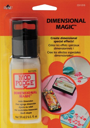 Mod Podge 59 ml Dimensional Magic, Transparent, Synthetic Material, durchsichtig, 17.6 x 12.4 x 3.8 cm