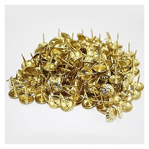LQHZ Clavo Decorativo 100 unids Oro latón Clavos Decorativos Tachuelas de joyería aplicada Caja de Caja de Regalo Pushpins Muebles Hardware Accesorios de Madera 11x16mm Duradero y fácil de Usar