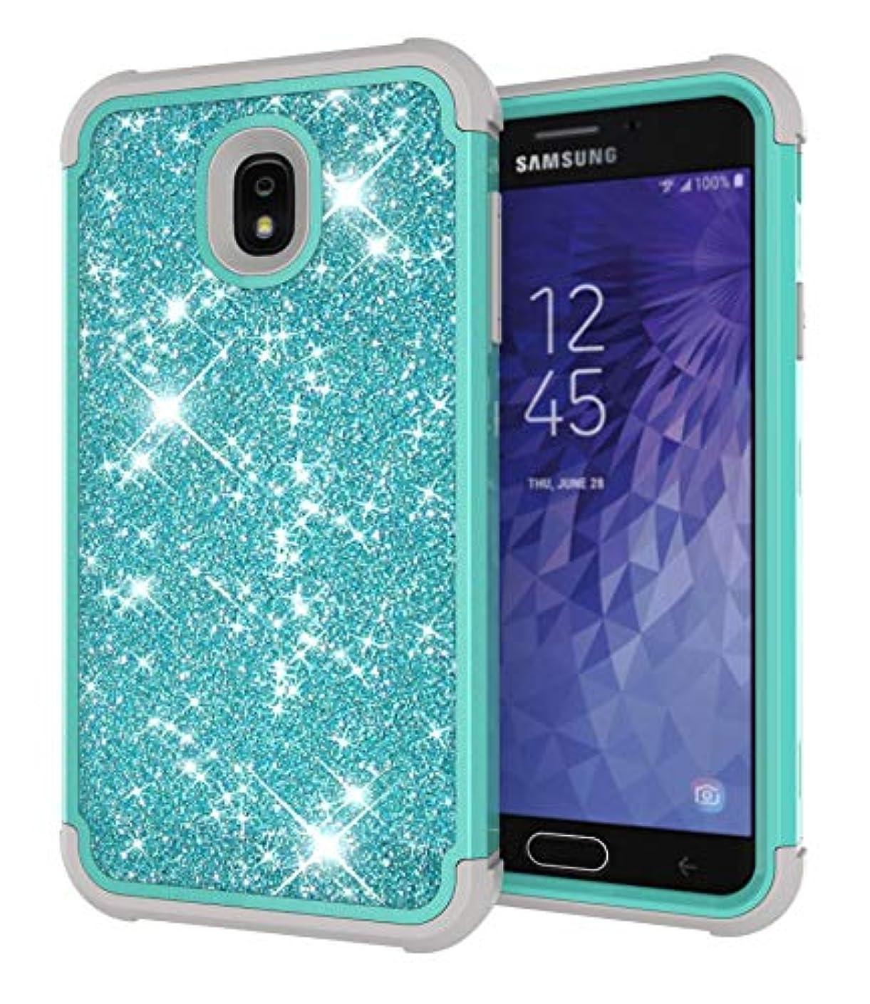 Case for Samsung Galaxy J7 2018 Wallet Case, Galaxy J7 Aero/J7 Star/J7 Top/J7 Crown/J7 Aura/J7 Refine/J7 Eon,Yoomer Shining Bling Diamond Rhinestone Luxury Glitter Sparkle Three Layer Shockproof Cover
